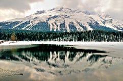 Lac et montagne winter Photos libres de droits