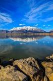 Lac et montagnes utah Images stock