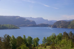 Lac et pilier 008 Revsvatnet Photo stock
