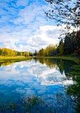 Lac et réflexions Images stock