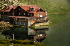 Lac et restaurant Balea Photos stock