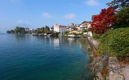 Lac et stationnement switzerland en Luzerne Kanton. Weggi photos stock