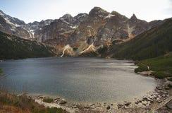 Lac eye de mer (Morskie Oko) près de Zakopane poland Image stock