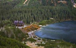 Lac eye de mer (Morskie Oko) près de Zakopane poland Images stock