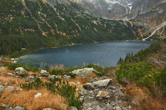 Lac eye de mer (Morskie Oko) près de Zakopane poland Images stock