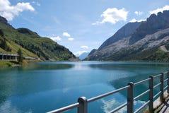 Lac Fedaia Photographie stock