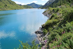 Lac Fedaia Image libre de droits