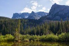 Lac fern en montagnes rocheuses Image stock