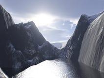 lac figé illustration libre de droits
