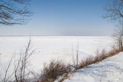 Lac figé Photos stock