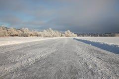 Lac figé Image stock
