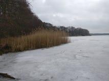 Lac figé Photographie stock libre de droits
