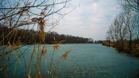 Lac figé Images stock