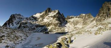 Lac figé dans haut Tatras Image libre de droits