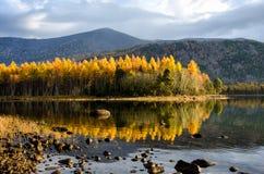 Lac Froliha mountain avec des pierres et la réflexion, près du lac Baïkal Photographie stock