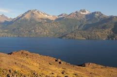 Lac general Carrera. Image libre de droits