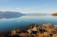 Lac general Carrera. Photo libre de droits