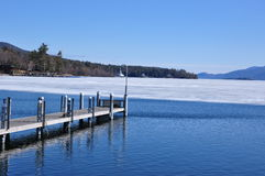 Lac George, New York images libres de droits