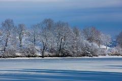 Lac glacé Photo libre de droits