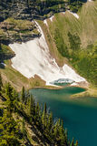 Lac Glaciar le long de traînée d'Acamina dans les lacs NP, Canada Waterton Images libres de droits
