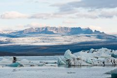 Lac glacier en Islande Image stock