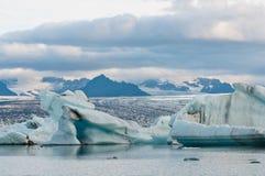 Lac glacier en Islande Photographie stock