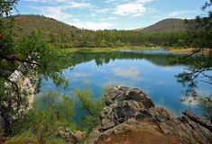 Lac Goldwater, Prescott, AZ image stock