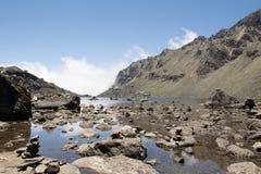 Lac Gosaikunda dans l'image du Népal Unprossed Photo libre de droits