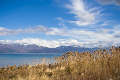 Lac grand Prespa. image stock