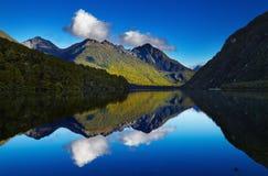 Lac Gunn, Nouvelle-Zélande Photographie stock libre de droits