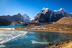 Lac Gurudongmar - deuxième lac Sikkim de haute altitude Image libre de droits