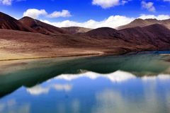 Lac Gurudongmar, Sikkim du nord, Inde Image stock