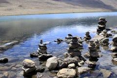 Lac Gurudongmar, Sikkim du nord, Inde Photographie stock libre de droits