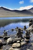 Lac Gurudongmar, Sikkim du nord, Inde Photos stock