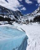 Lac Haiyaha en Rocky Mountain National Park Photo stock