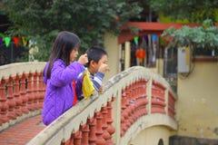 Lac Hanoï, Vietnam Hoan Kiem Photographie stock libre de droits