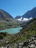 lac Haut-montagneux Kuiguk images stock