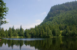 Lac haute mountain Photos stock