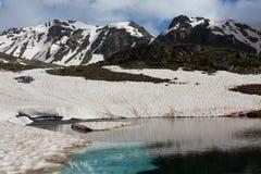 Lac hautes mountains Images libres de droits