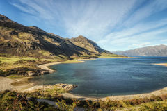 Lac Hawea en île du sud , le Nouvelle-Zélande Photos libres de droits