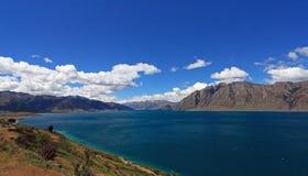 Lac Hawea, Nouvelle Zélande Images libres de droits