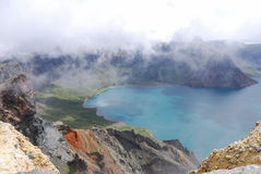 Lac heaven de Changbaishan photo stock