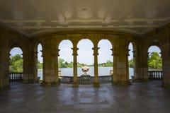 Lac Hever du bungalow images libres de droits