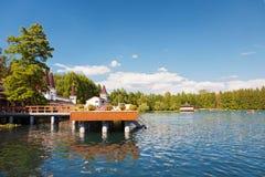 Lac Heviz, 2ème plus grand lac thermique naturel en Hongrie Photos stock