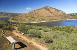Lac Hodges et Bernardo Mountain Scenic Landscape San Diego County Poway California Photos libres de droits