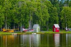 Lac Hood Seaplanes en Alaska Photographie stock