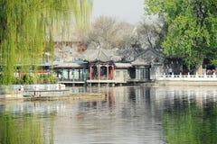 Lac Houhai, Pékin Images libres de droits