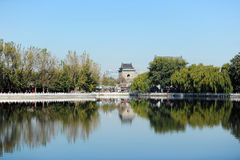 Lac Houhai, Pékin photographie stock