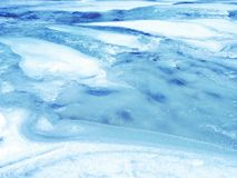 Lac ice Photo stock