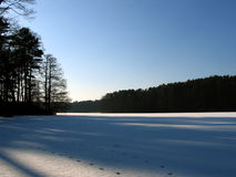 Lac ice. Photographie stock